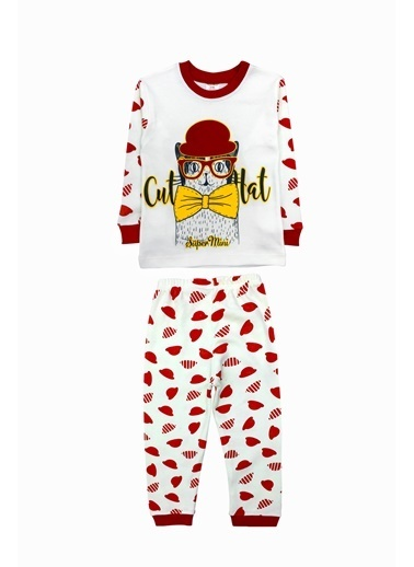 By Leyal For Kids Pijama Takım Kırmızı